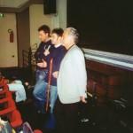 Amadei e Colangeli durante il dibattito